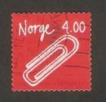 Stamps : Europe : Norway :  invento noruego, el clip