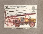 Sellos de Europa - Reino Unido -  Primer coche de bomberos motorizado