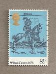 Stamps United Kingdom -  William Caxton de los Cuentos de Canterbury