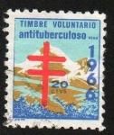 Stamps : America : Peru :  Timbre voluntario antituberculoso