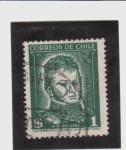 Stamps Chile -  Correo postal-Bernardo O´Higgins