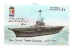 """Stamps : America : Argentina :  Portaaviones A.R.A. """"25 de Mayo"""""""