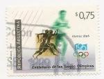 Stamps Argentina -  Centenario de los juegos Olímpicos