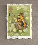 Stamps United Kingdom -  Mariposa Aglais urticae