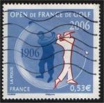 Sellos de Europa - Francia -  Centenario del Open de Golf
