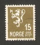 Stamps : Africa : Norway :  228 - León heráldico