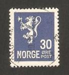Sellos de Europa - Noruega -  león heráldico