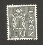 Stamps : Europe : Norway :  nudo marino