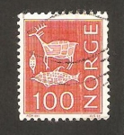 Stamps : Europe : Norway :  reno, pez y cepo
