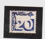 Sellos de America - Brasil -  correo postal