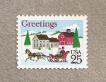 Stamps United States -  Saludos!