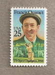 Stamps United States -  Francis Ouimet, jugador de golf