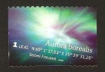 Stamps : Europe : Finland :  aurora boreal verde