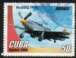 Stamps Cuba -  Aviones - Mustang TF 51