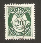 Stamps Norway -  trompeta postal