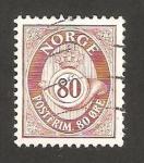 Sellos de Europa - Noruega -  trompeta postal