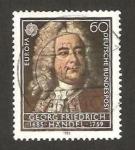 Sellos del Mundo : Europa : Alemania :  1080 - Europa Cept, Georg Friedrich Handel, compositor