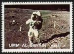Sellos del Mundo : Asia : Emiratos_Árabes_Unidos :  UMM AL QIWAIN - Llegada del hombre a La Luna