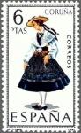 Stamps Spain -  trajes tipicos  españoles