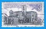 Stamps Spain -  Monasterio de San Pedro de cardeña,(vista General)