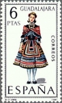 "Stamps of the world : Spain :  trajes tipicos  españoles""""GUADALAJARA"""