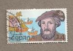Stamps Spain -  Americo Vespuccio, descubridor
