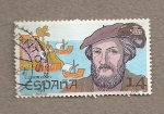 Sellos de Europa - España -  Americo Vespuccio, descubridor