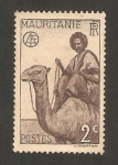 Sellos del Mundo : Africa : Mauritania : Nativo en camello