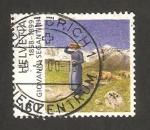 Stamps Switzerland -  centº de la muerte de giovanni segantini, pintor italiano