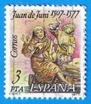 Stamps Spain -  2460 Juan de Juni y Santo entierro