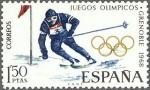 Stamps Spain -  x juegos olimpicos de invierno en grenoble