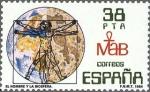 Sellos del Mundo : Europa : España : el hombre y la biosfera