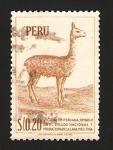 Stamps Peru -  vicuña, símbolo en el escudo nacional