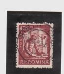 Stamps Romania -  albañileria