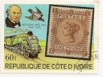 Stamps Ivory Coast -  Sir Rowland Hill 1795-1879