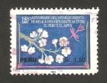 Stamps Peru -  120 anivº del establecimiento de la relaciones diplomáticas ente Perú y Japón