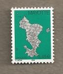 Stamps Mayotte -  Mapa isla