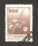 Stamps Asia - Taiwan -  flor nacional prunier