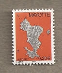 Stamps Africa - Mayotte -  Mapa isla