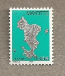 Stamps Mayotte -  Mapa isla