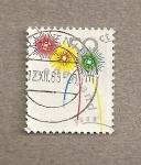 Stamps Netherlands -  Felicitación Navideña 1988
