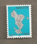 Stamps Africa - Mayotte -  Mapa isla