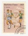 Stamps Burkina Faso -  Copa del Mundo Mexico 86