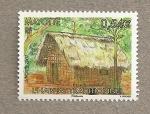 Stamps Africa - Mayotte -  La casa tradicional