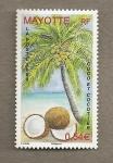 Stamps Africa - Mayotte -  Cocos y cocotero