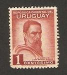 Sellos de America - Uruguay -  40 anivº de la muerte de Juan Manuel Blanes, pintor