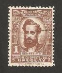 sellos de America - Uruguay -  centº del nacimiento de jose pedro varela, escritor