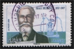 Stamps Europe - France -  Henri Moissan, 1852 – 1907