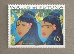 Stamps Oceania - Wallis and Futuna -  Indigenas