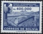 Sellos de America - Bolivia -  XXV Aniversario del banco interamericano de desarrollo